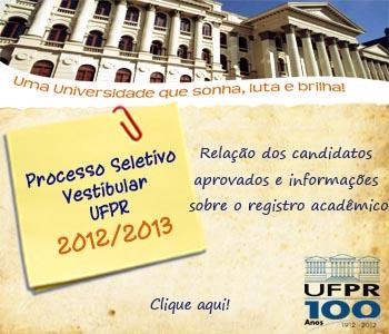 Vestibular UFPR 2012/2013